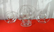 64-pieces Set For 8+ Of Imperial Glass Candlewick-clear 3400 Pat Glassware
