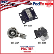 Engine Motor And Trans Mount Set For 2008-2011 Ford Focus 2.0l 2986 5312 5322 3pcs