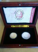 Nelson Mandela 90 Years 2008 Twin Set 1oz Gold And Silver Commemorative Medals