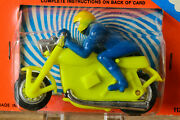 Antique Plastic Toy Hong Kong Harley Davidson Worlds Wildest Race Motorcycle