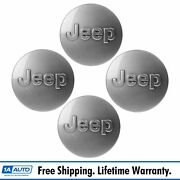 Oem Wheel Center Cap Cover With Logo Set Of 4 For Jeep Wrangler Grand Cherokee