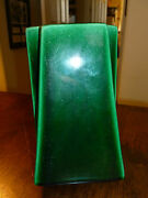 Vintage Hanzakos Vase - Emerald Green - Art Deco Lines - California Pottery