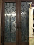 French Doors Spanish Style Front Doors Iron And Glass Double Entry Doors 104x72