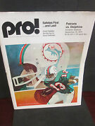 Nfl-miami Dolphins Vs. New England Patriots 9/15/1974 @ Schaefer The Great Team
