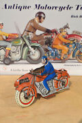Antique Tin Toy Sfa Motorcycle Side Car 2130-rp9 Tco Cko France Old Paris