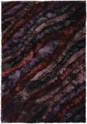 5x8and039 Chandra Rug Flemish Hand-woven Contemporary Shag Polyester Fle51103-576