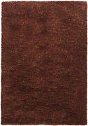 8x11' Chandra Rug Estilo Hand-woven Contemporary Shag Wool And Polyester Est1850