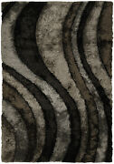 8x11and039 Chandra Rug Flemish Hand-woven Contemporary Shag Polyester Fle51110-7910