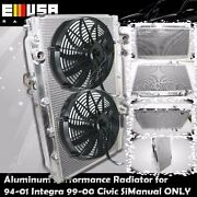 Performance Radiator +12 Fans For 99-00 Civic 94-01 Acura Integra Manual Only
