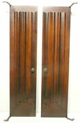 Vintage Edison R-7 Tube Radio Part 2 Front Wood Doors 23 And 5/8 X 5 And 3/4