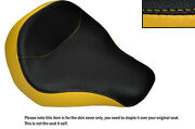 Black And Yellow Custom Fits Harley Davidson Fatboy Flstf 06-14 Front Seat Cover