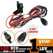 1x Wiring Harness Kit Line 40a 12v Switch Relay Harness For 2 Led Work Light Bar