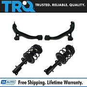 Trq 4 Pc Front Steering Suspension Kit Strut Assembly Control Arms W/ball Joint