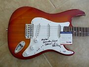 Ed King Lynyrd Skynyrd Signed Guitar Saturday Night Special Title Psa Certified
