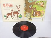 Walt Disneyand039s Story And Songs From Bambi 1969 Vinyl Lp 3903 + 11 Page Booklet