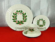 51-pieces Set For Twelve Of Scio Christmas Holly Pattern China