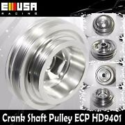 Emusa Aluminum Performance Silver Crank Pulley For 97-01 Cr-v 88-91 Crx B