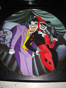 Warner Bros Joker And Harley Quinn Collector's Plate Statue Batman Animated Bust