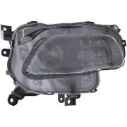Headlight For 2014-2017 Jeep Cherokee Right Black Trim With Bulb