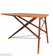 Antique Ironing Board / Folding Table Arts And Crafts Early 20th C. 24x31.5x55