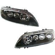 Headlight Set For 2006 2007 2008 Mazda 6 Left And Right Black Housing 2pc