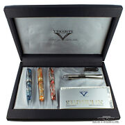 Visconti Millennium Arc Limited Edition Set Of 3 Fountain Pens