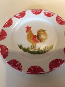 Antique Rooster Plates From France, Set/6