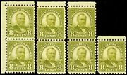 589 Mint Nh 8c Perfed 10 - F-vf+ Wholesale Lot Of 7 Stamps Cat 420.00