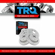 Trq Performance Drilled And Slotted G-coated Front And Rear Brake Rotor Set