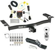 Trailer Tow Hitch For 11-15 Lincoln Mkx Complete Package W/ Wiring And 2 Ball