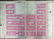 1914 Manhattan Ny Morningside Heights Mt. Morris Park 116th To 122nd Atlas Map