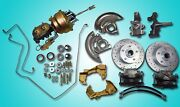 1968-1972 Chevelle Power Front Disc Brake Conversion 2 Drop 8 Dual Booster Gto