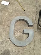 Metal Letter G For Commercial Buildings And Signs 30 Inches