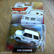 Disney Planes Fire And Rescue Cad Spinner Diecast Park Superintendent Intl Card 2