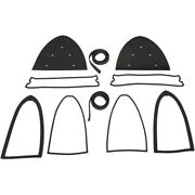 1955-1956 Packard Caribbean 400 Patrician Tail Light Housing And Lens Gasket Set