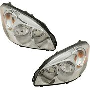 Headlights Headlamps Left And Right Pair Set For 06-11 Buick Lucerne