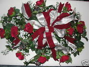 Christmas For Mothers Funeral Headstone Silk Flowers Grave Burial Pillow Spray