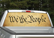 We The People 2 American Vintage Rear Window Decal Graphic For Truck Suv