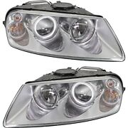 Headlight Set For 2004-2007 Volkswagen Touareg Left And Right With Bulb 2pc