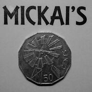 2002 Year Of The Outback Windmill 50c Fifty Cent Lightly Circulated A Unc