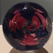 One Of A Kind Colin Terris For Caithness Trefoil Orchid Paperweight W Box Coa