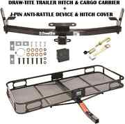 2005-16 Chevy Equinox Trailer Hitch + Cargo Basket Carrier + Silent Pin Lock Tow