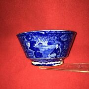 Historical Staffordshire Lafayette At Franklins Tomb Waste Bowl Ca. 1825