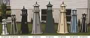 Amish-made Wooden Lighthouse With Lighting, 48 Tall - Available In 20 Colors