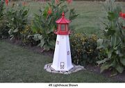 Amish-made Replica Cape May, Nj Lighthouse With Lighting - In 13 Sizes