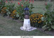 Amish-made Replica Oak Island Nc Lighthouse With Lighting - In 13 Sizes