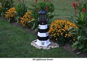Amish-made Replica Bodie Island Nc Lighthouse With Lighting - In 13 Sizes