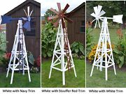 Amish-made Wooden Farm Windmill Yard Decoration - Available In 19 Finishes