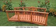 Amish-made Weight-bearing Cedar Spindle Bridge - Bridges In 8 Sizes And 9 Colors
