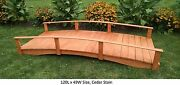 Amish-made Weight-bearing Pine Oriental Bridge - Bridges In 8 Sizes And 10 Colors